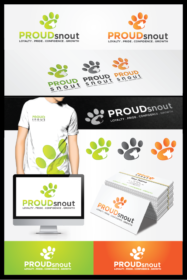 Proud Snout - dog training solutions logo - BLIND CONTEST-possible future design