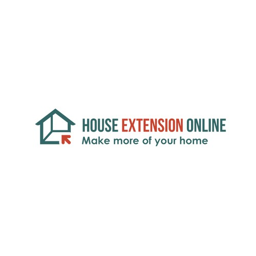 Clean Line Logo Concept For House Extension