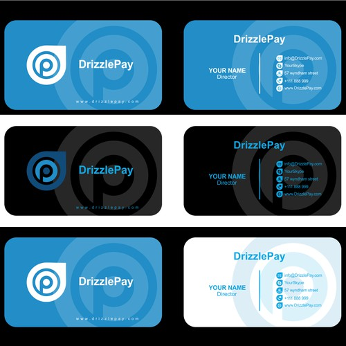 Create a logo & business card design for mobile wallet DrizzlePay