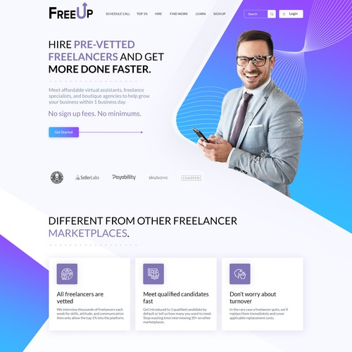 Website design for Freeup