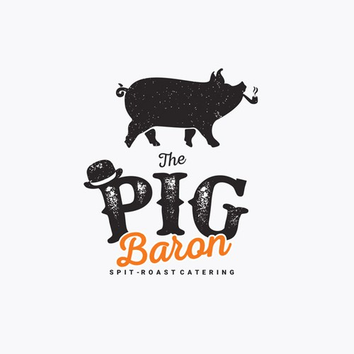 Logo concept for spit - roast catering company.