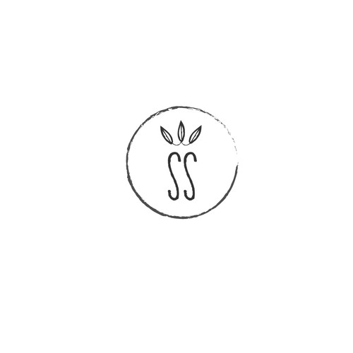 clean, simple logo for up & coming soap + candle company with initials SS and crown.