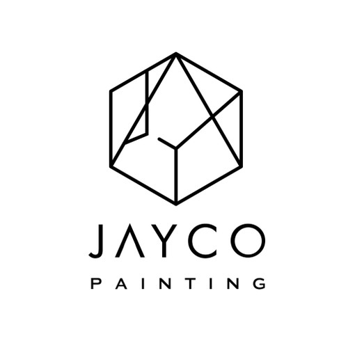modern timeless sophisticated logo for luxury home painting