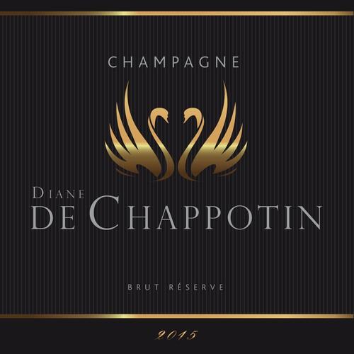 Etiquette champagne Diane de Chappotin