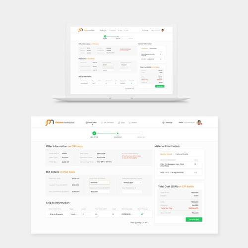 Technology firm Dashboard Design