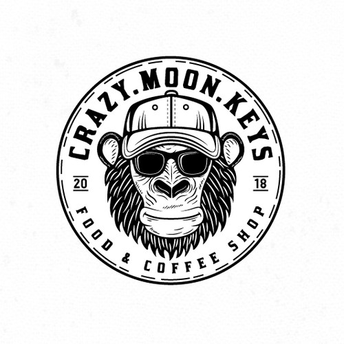 Edgy logo for a coffee shop.