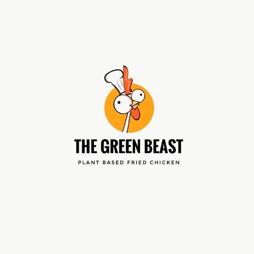 Logo for vegan chicken restaurant