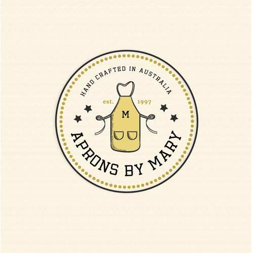 Classic Retro Logo for Aprons by Mary