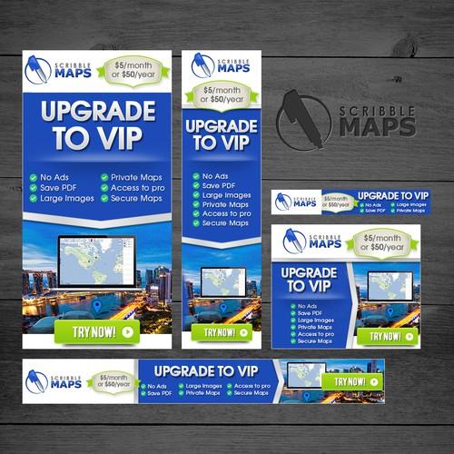 Banner Ad Design - Scribble Maps Banner Set