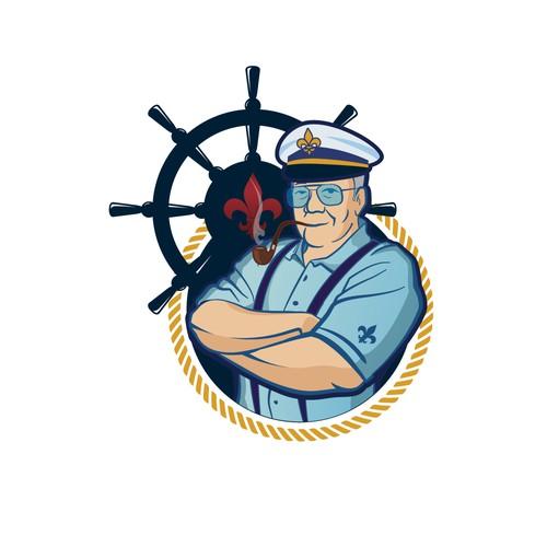 Diseño de mascota para Navio militar
