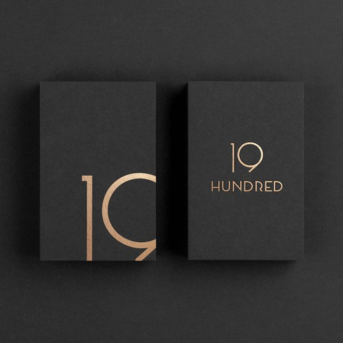 Word mark logo concept for '19HUNDRED'-boutique hotel
