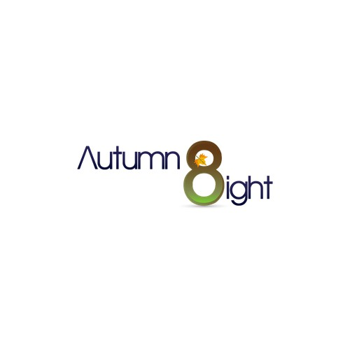 Create a warm, yet modern logo for autumn eight, a startup specializing in Lifestyle Automation