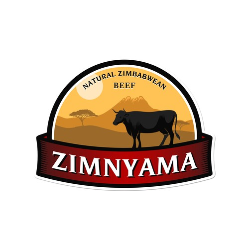 Africa inspired logo, beef industry