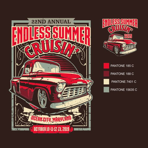Carshow T Shirt Design