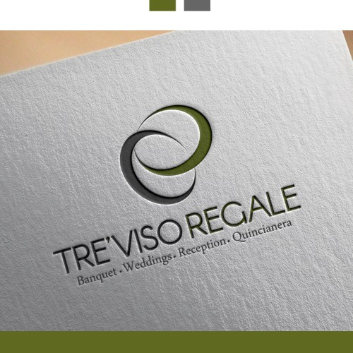 Logo concept fot Tre'Viso Regale, wedding, banquet.