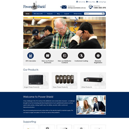 Responsive Technology Product Company Website