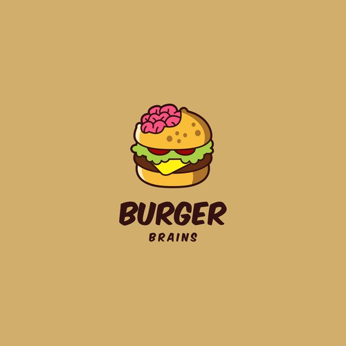 Attractive logo design for Burger Brains