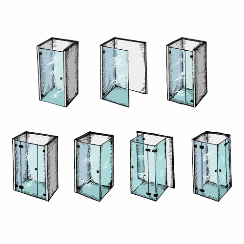 Glass Shower Illustrations