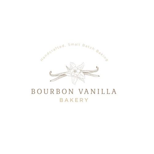Bourbon Vanilla Bakery Logo Design