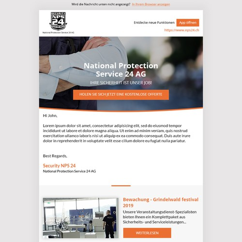 Customized Newsletter Template