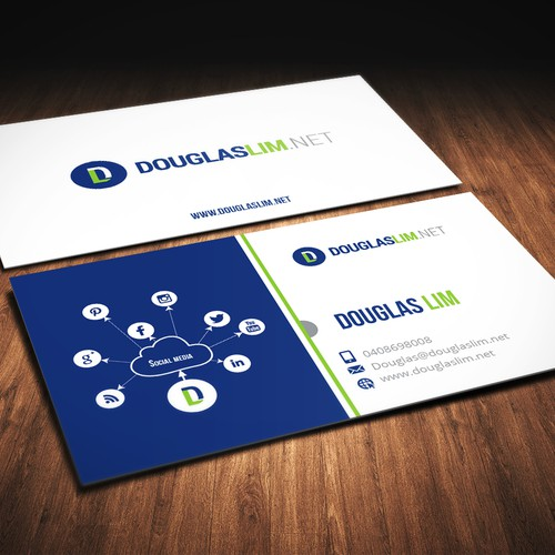 Create a capturing business card design that stands out
