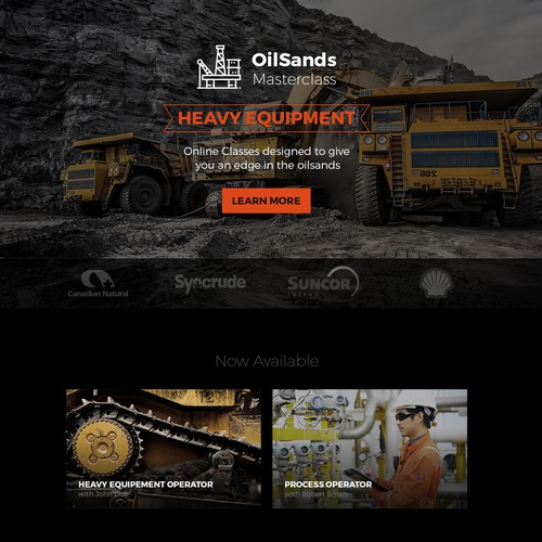 Webdesign for OilSands Masterclass