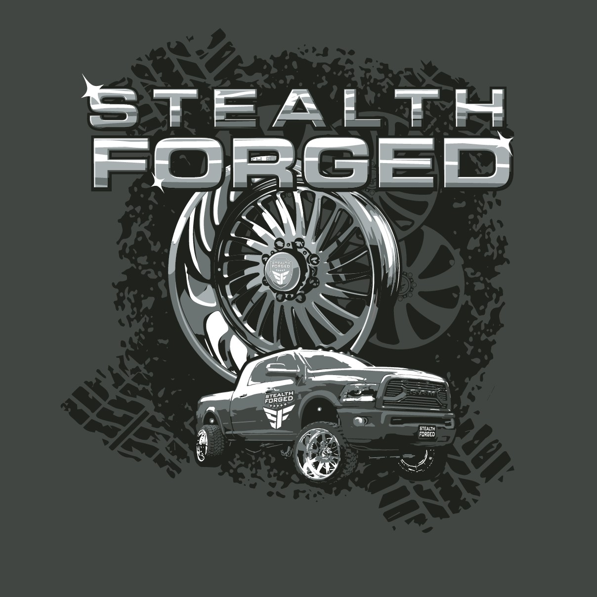 STEALTH FORGED T-SHIRT DESIGN