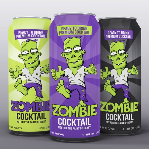 Zombie cocktail can design