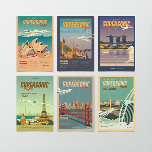 Boom Jets Travel Poster