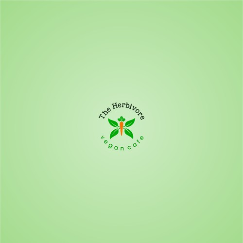 simple logo concept the herbivore vegan cafe