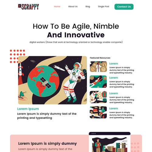 Simple, playful business strategy blog template