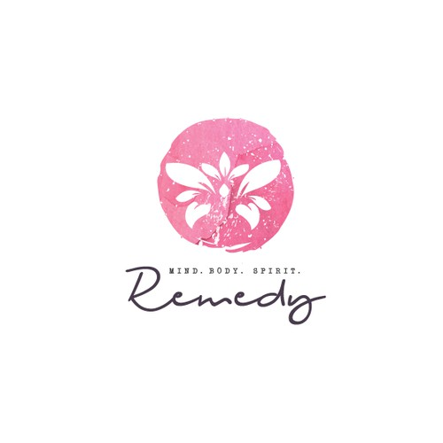 Logo concept for The Remedy. Mind, body, spirit.
