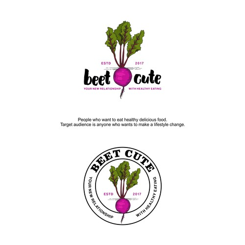 Beet Cute Food Blog Logo