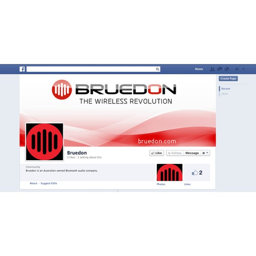 Facebook cover for Bluetooth speaker company!