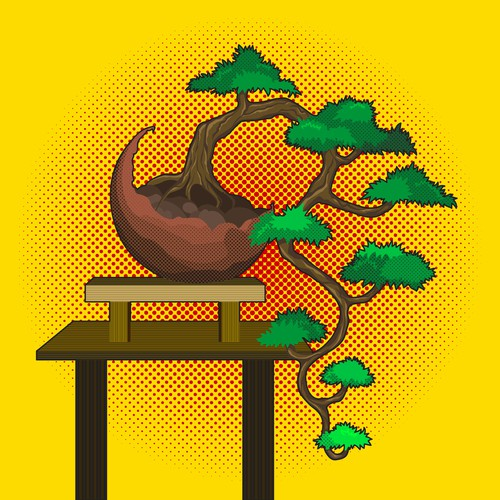 Bonsai Pop Style Illustration