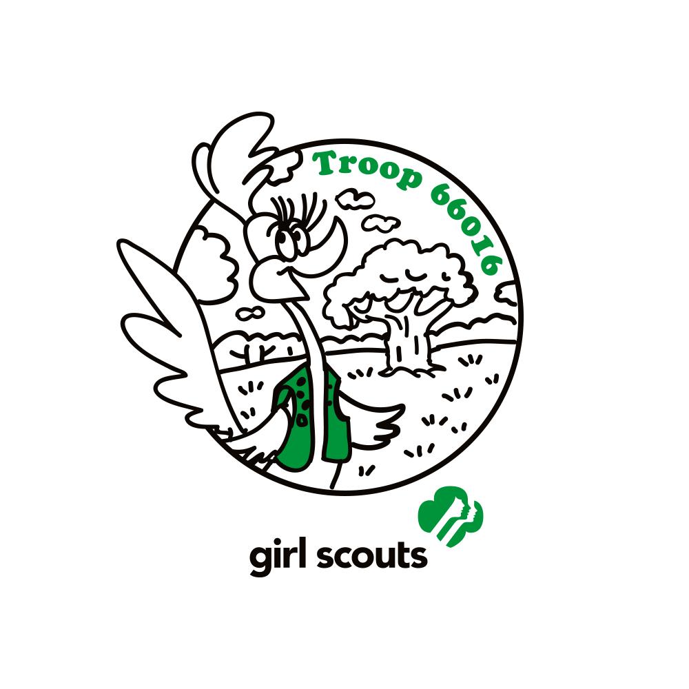 Logo design for Girl Scout Troop