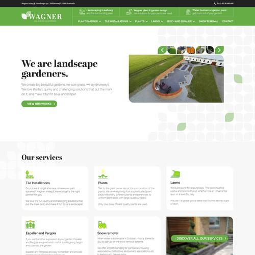 Landscaper needs the best looking website in Denmark