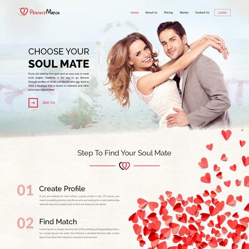 Dating Website Mockup Design
