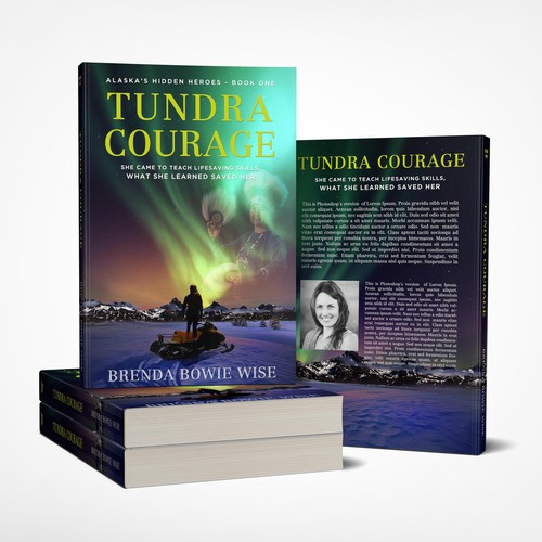 Book cover for Brenda Bowie Wise, Tundra Courage