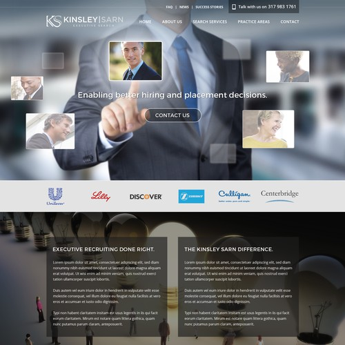 Homepage Design For Executive Search Firm