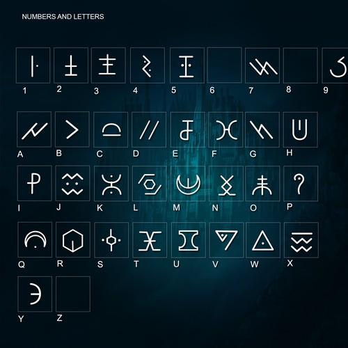 Dingbats font for a German electro artist