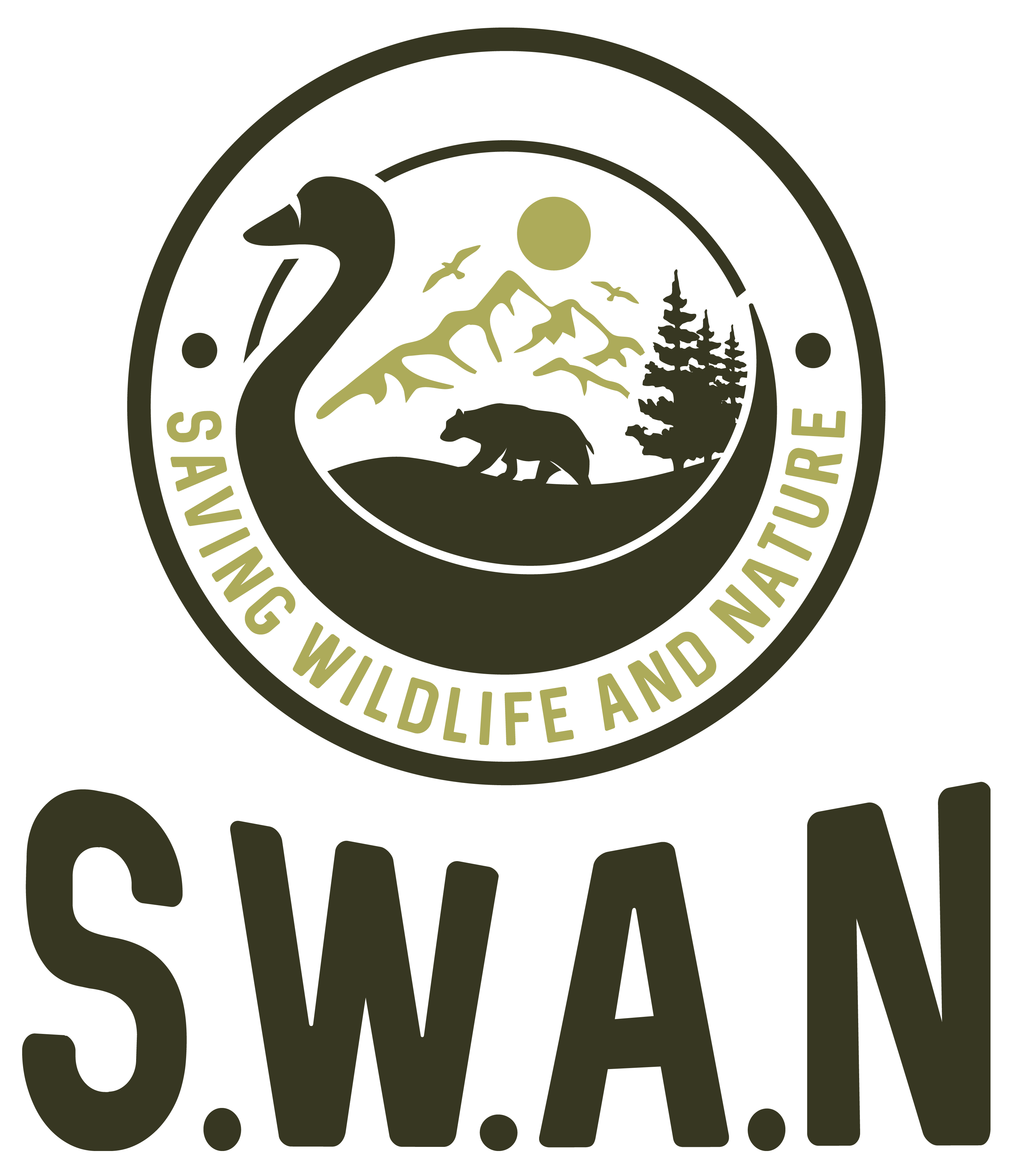 S.W.A.N Logo  (Saving Wildlife and Nature)