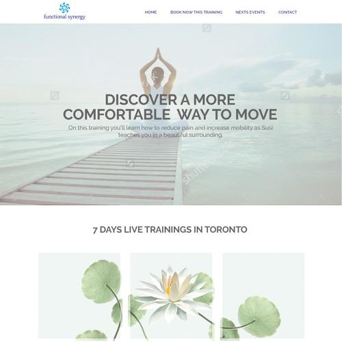 Yoga landign page