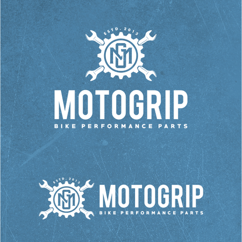 Logo design for vintage motorcycle parts shop.