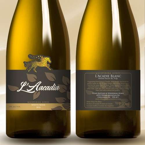White wine label design