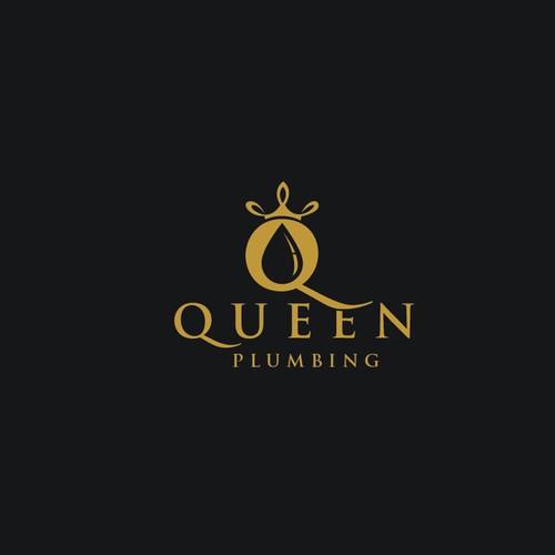 Queen plumbing logo