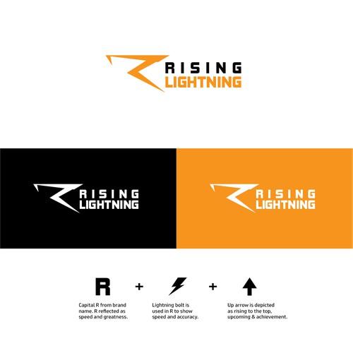 Rising Lightning Athletics (RiLi) Logo Design Competing with Nike, Adidas, Under Armour, Puma