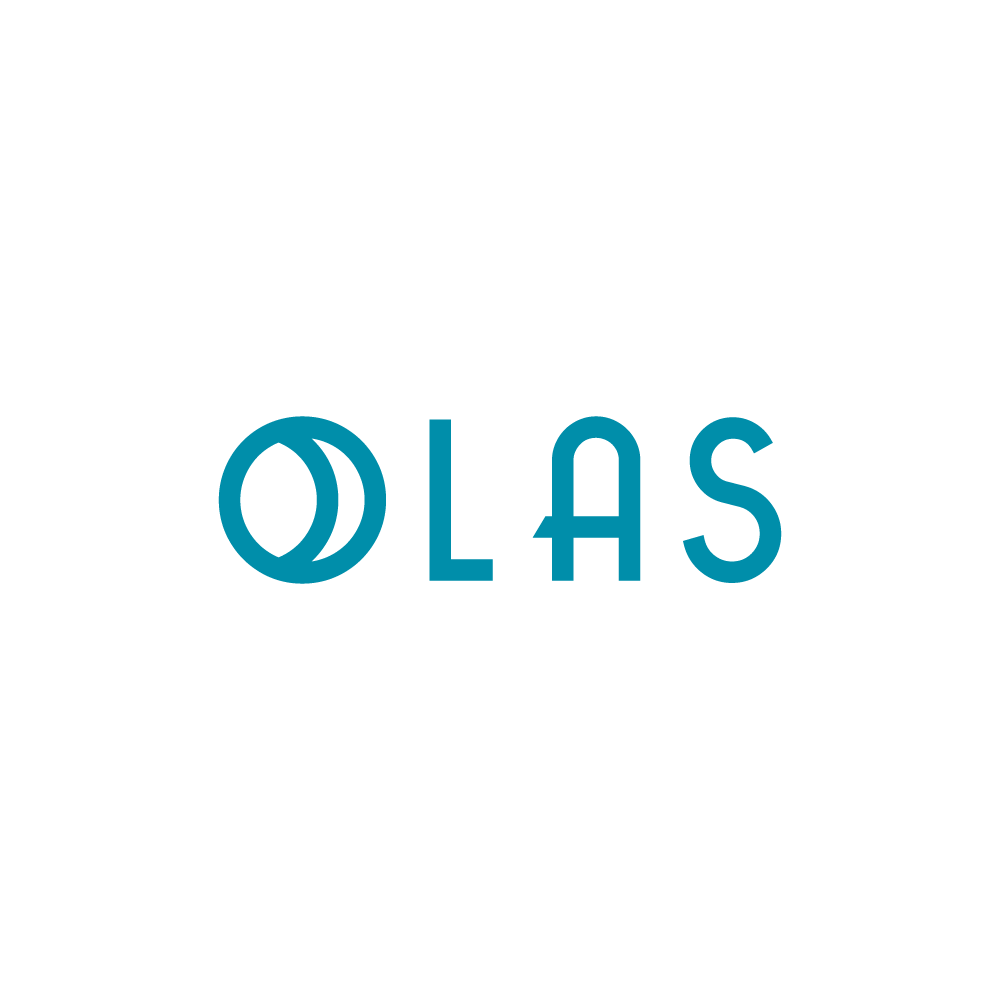 OLAS Hair Product Logo w/ beachy vibe that will be featured on a popular Bravo TV show