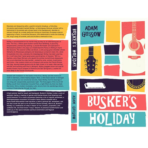 Saul Bass–Style Book Cover for Summer Read