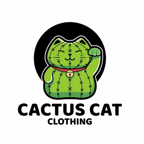 Cartoon logo for Cactus Cat